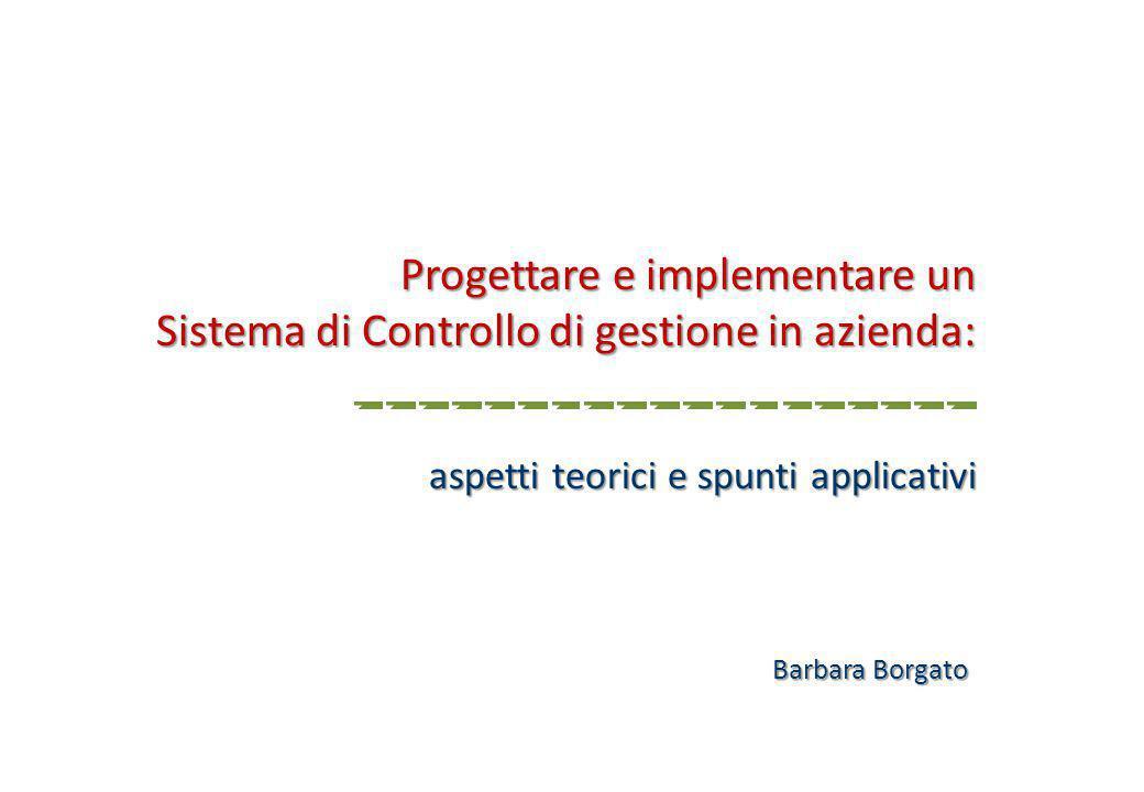 Progettare e implementare un Sistema di Controllo di gestione in azienda: