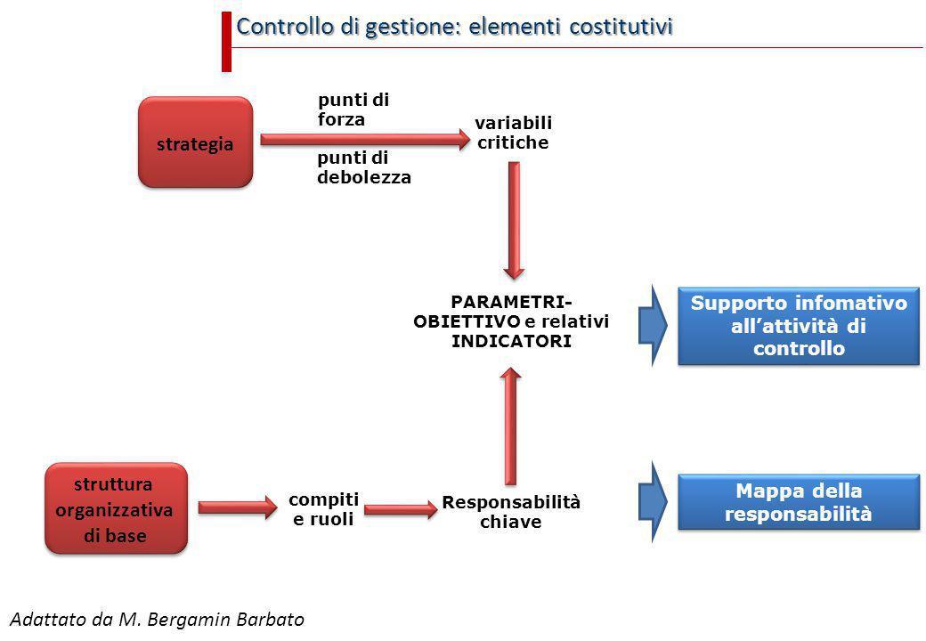 Controllo di gestione: elementi costitutivi