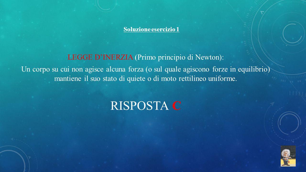 LEGGE D'INERZIA (Primo principio di Newton):