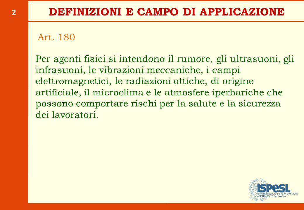 VALUTAZIONE DEI RISCHI (Art. 181)