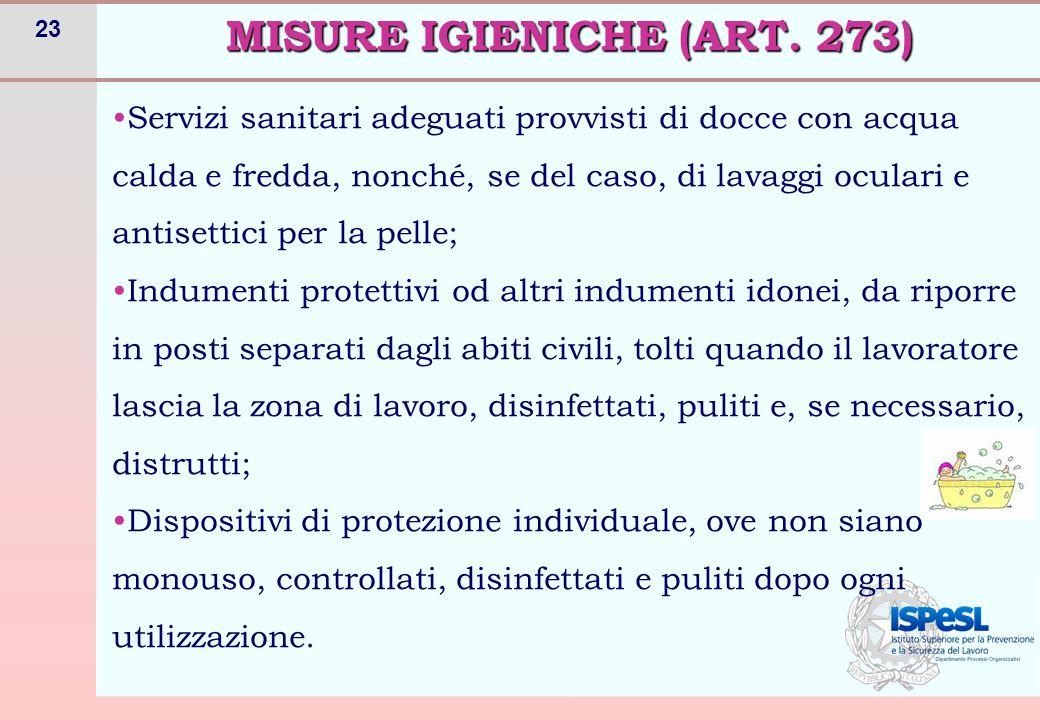MISURE IGIENICHE