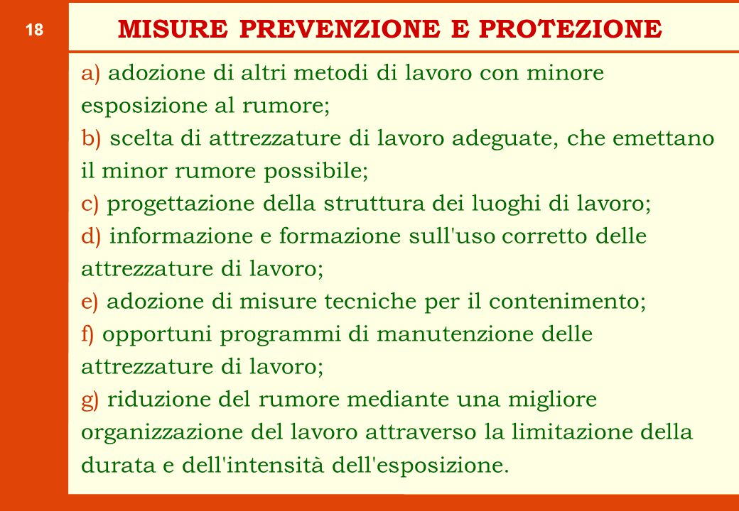 MISURE PREVENZIONE E PROTEZIONE
