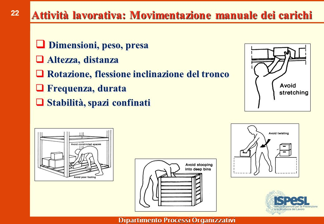 Attività lavorativa: lavoro con le mani