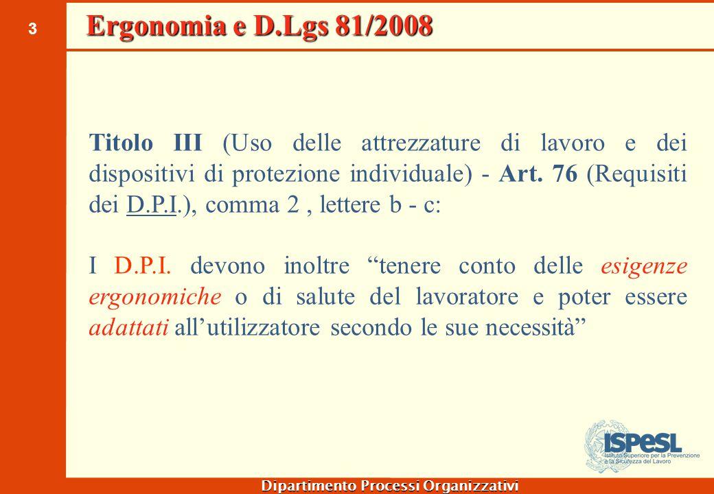 Ergonomia e D.Lgs 81/2008 Titolo VI (Movimentazione manuale dei carichi) - Art. 167 (Campo di applicazione)