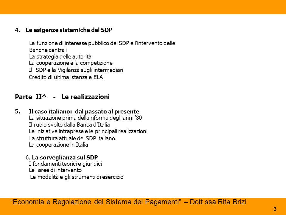 Le esigenze sistemiche del SDP
