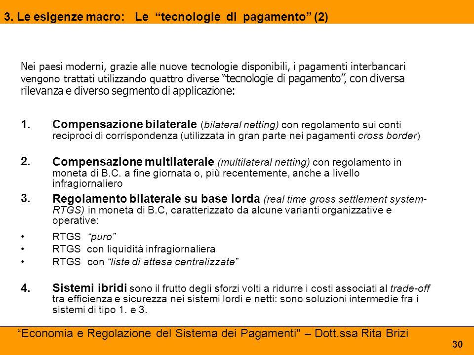3. Le esigenze macro: Le tecnologie di pagamento (2)