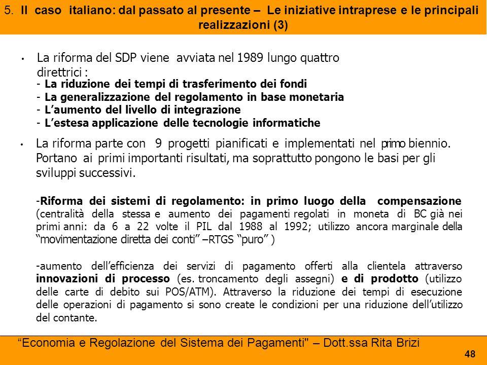 La riforma del SDP viene avviata nel 1989 lungo quattro direttrici :