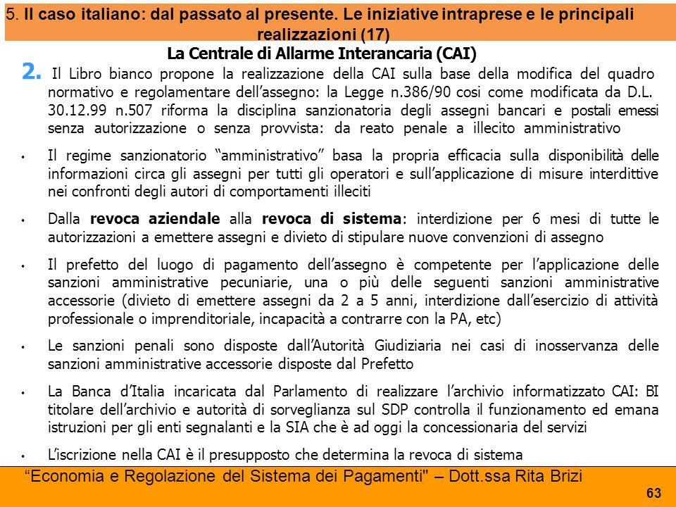 5. Il caso italiano: dal passato al presente