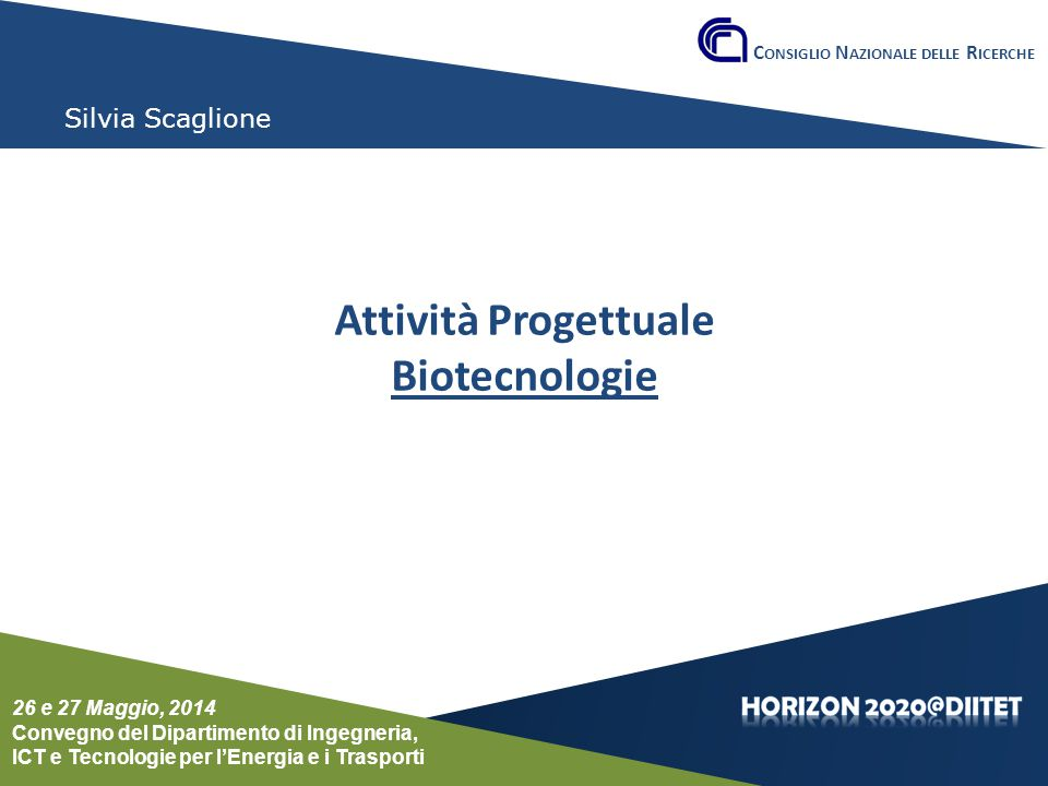 Attività Progettuale Biotecnologie