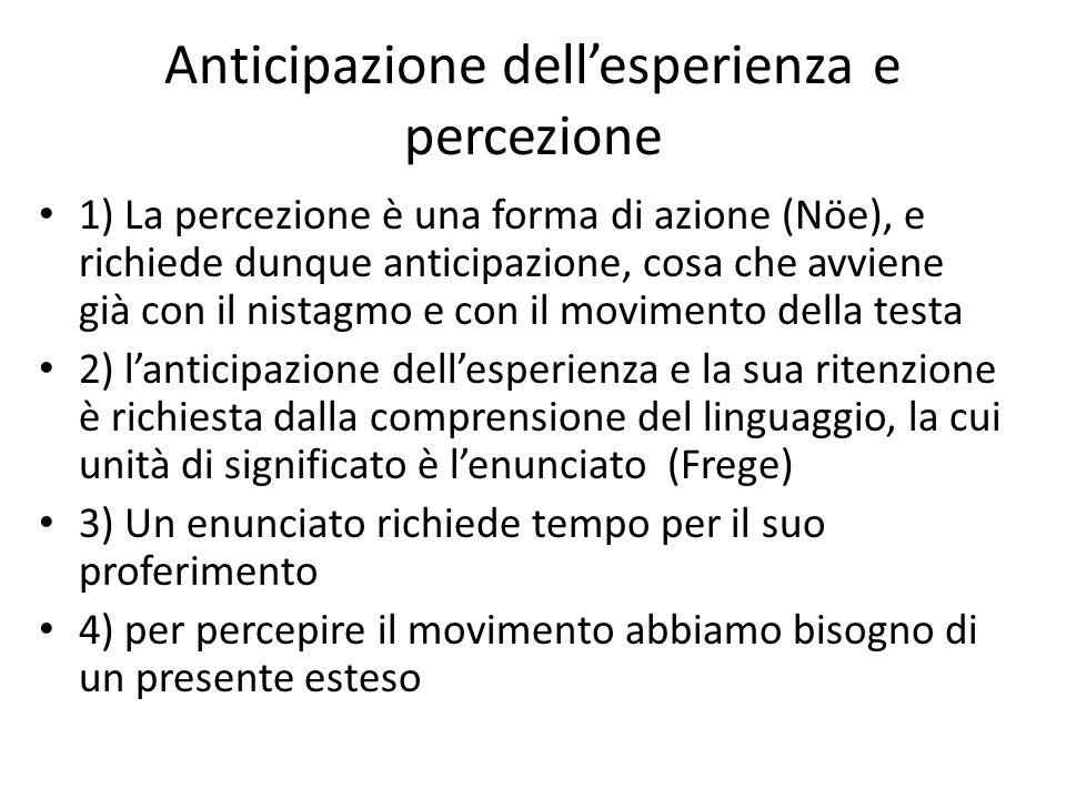 Anticipazione dell'esperienza e percezione