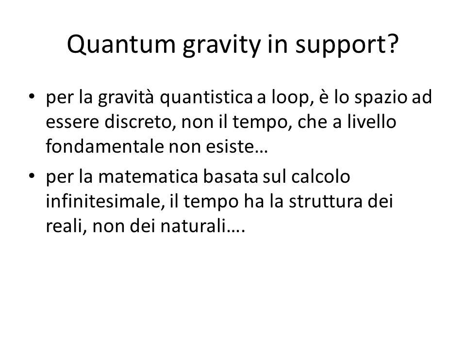 Quantum gravity in support