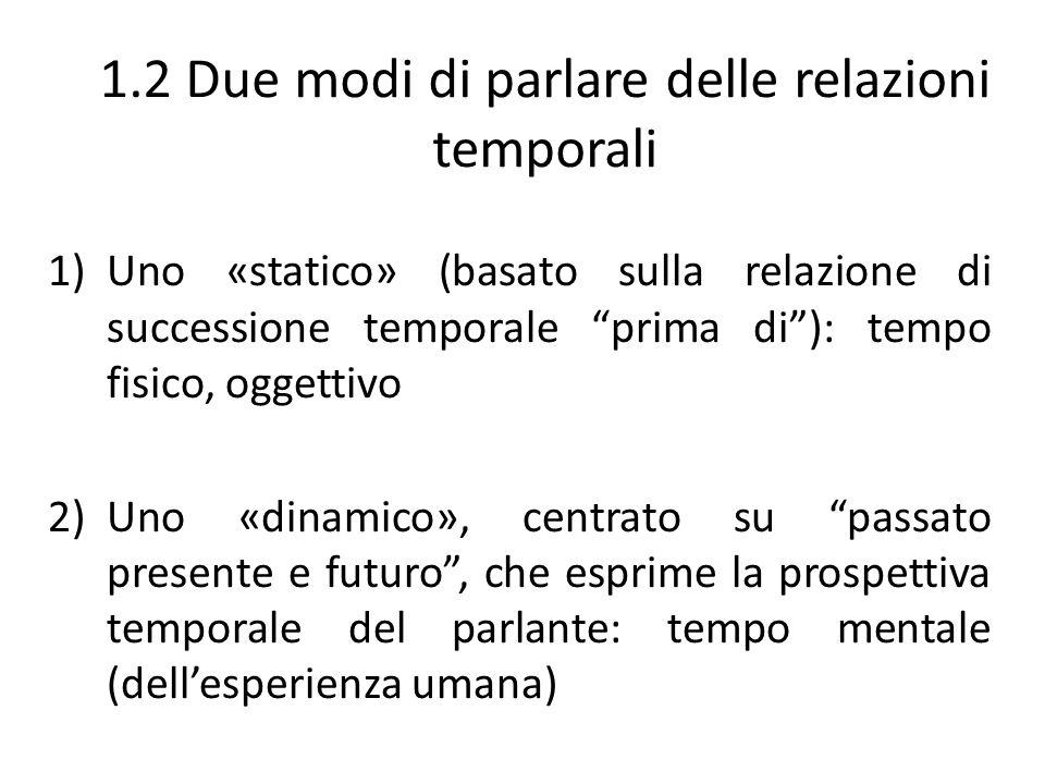 1.2 Due modi di parlare delle relazioni temporali