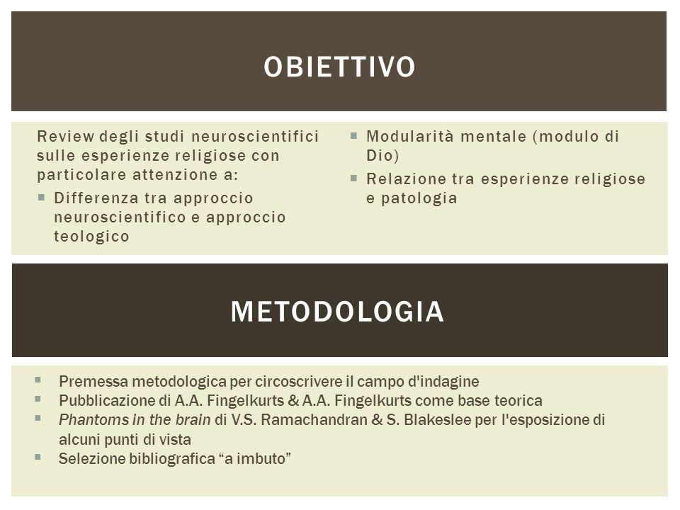 OBIETTIVO METODOLOGIA