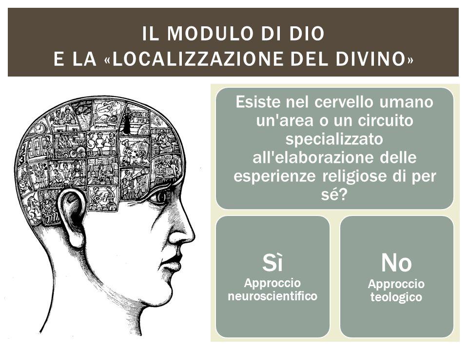 Il modulo di dio e la «localizzazione del divino»