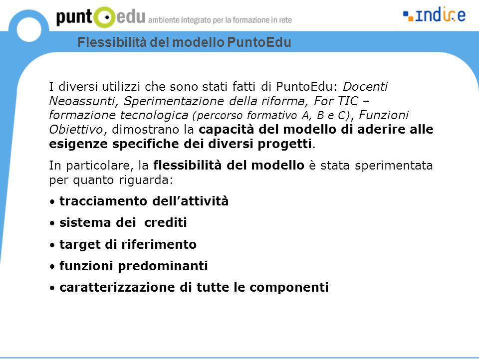 Flessibilità del modello PuntoEdu