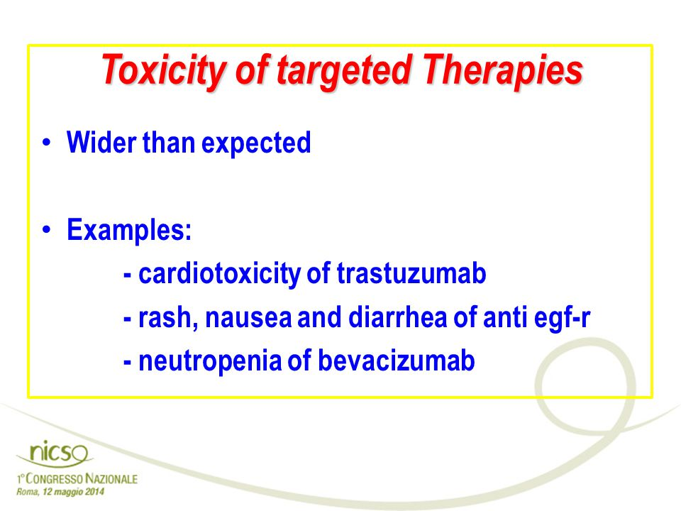 Toxicity of targeted Therapies