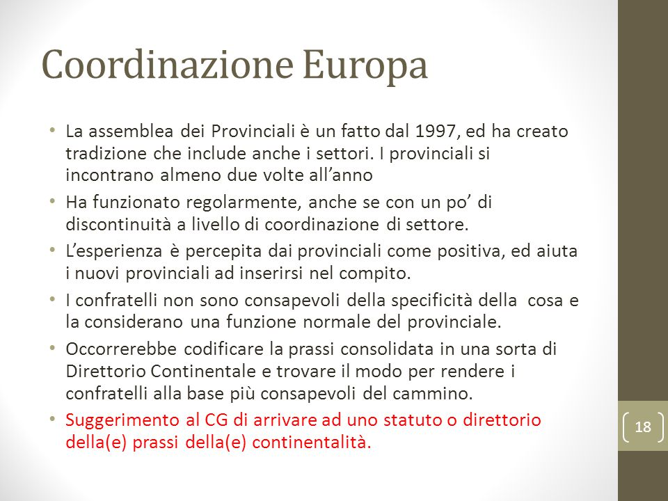 Coordinazione Europa