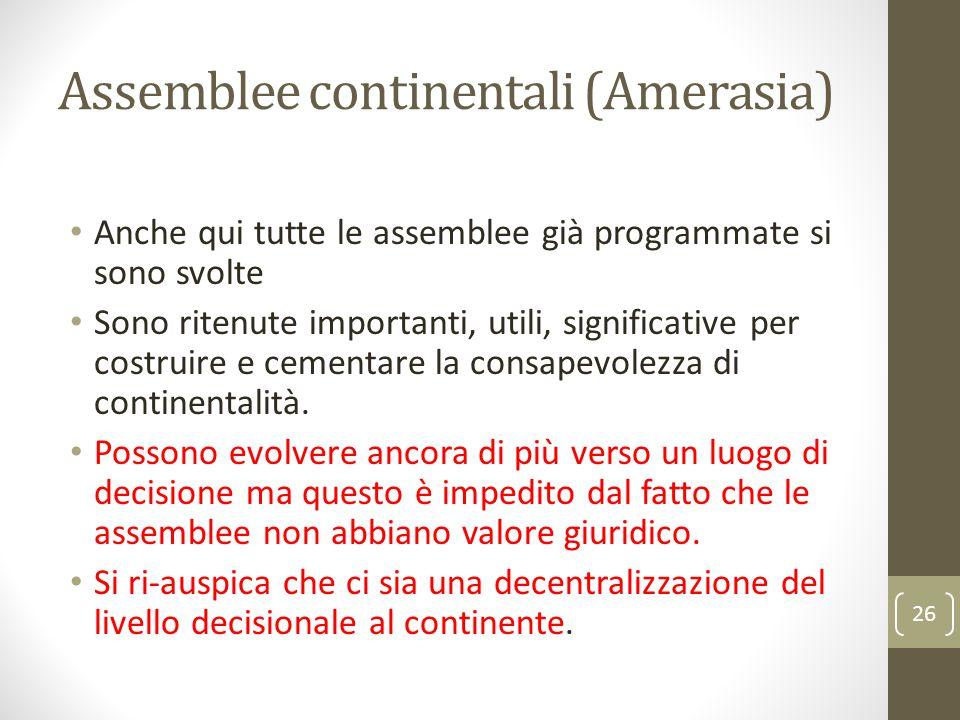 Assemblee continentali (Amerasia)