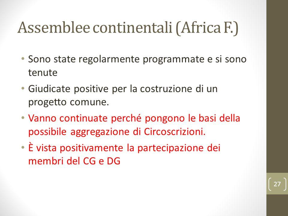 Assemblee continentali (Africa F.)