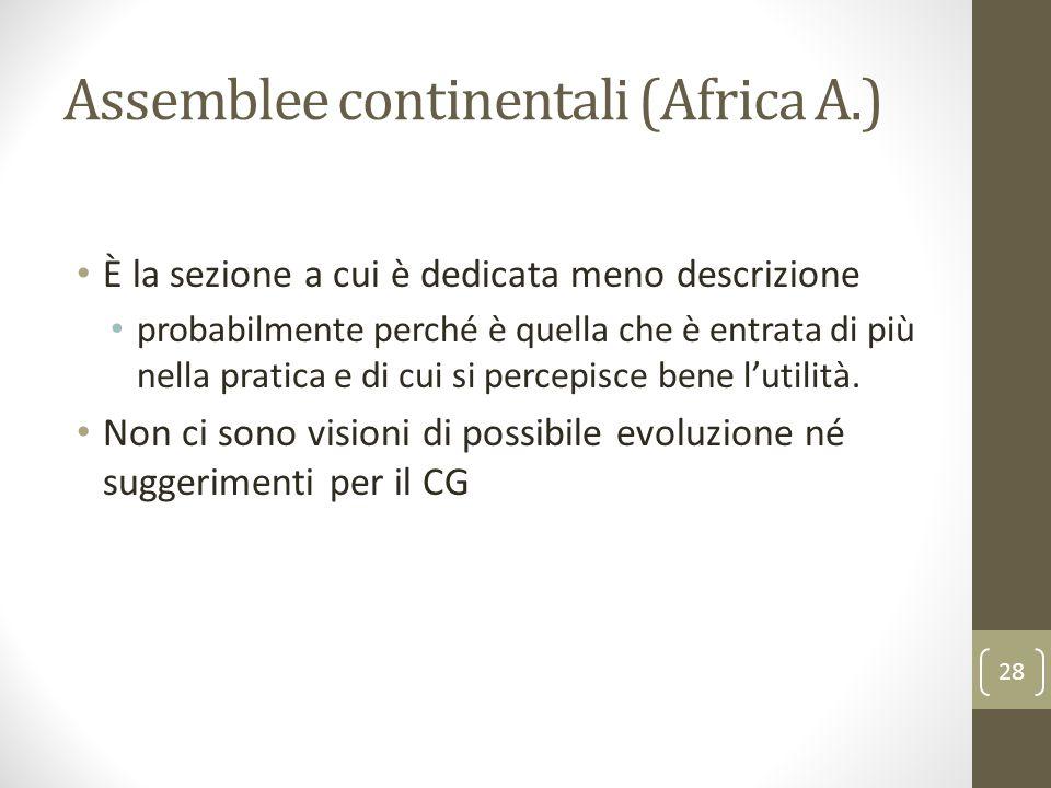 Assemblee continentali (Africa A.)