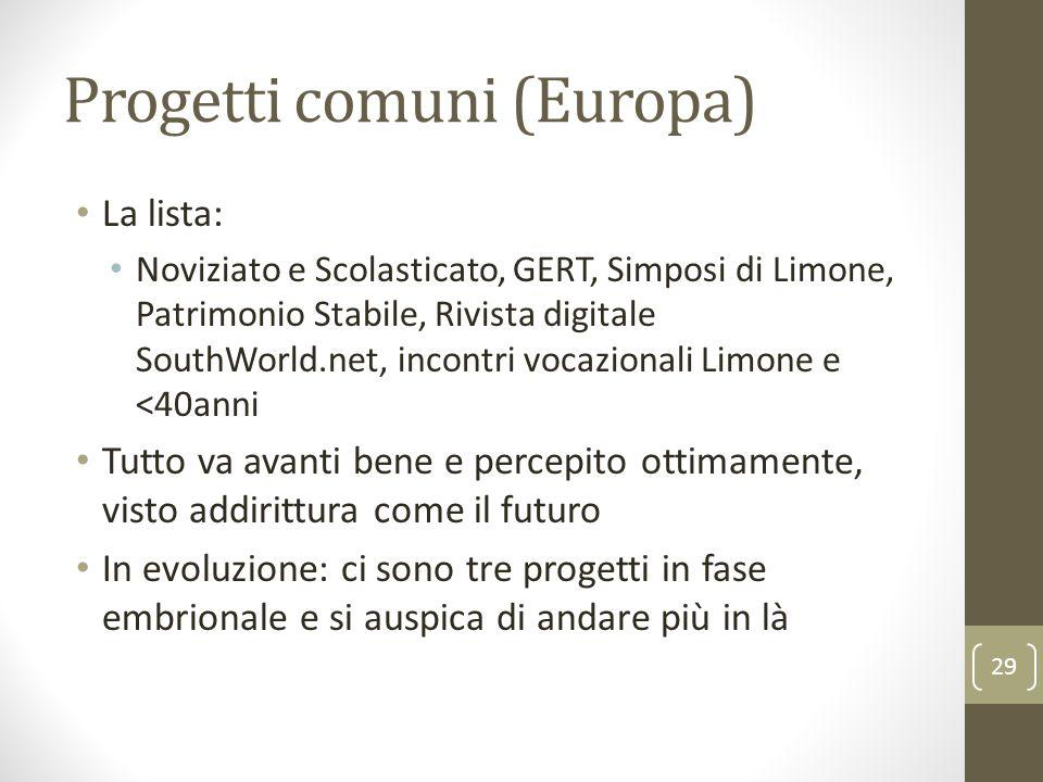 Progetti comuni (Europa)