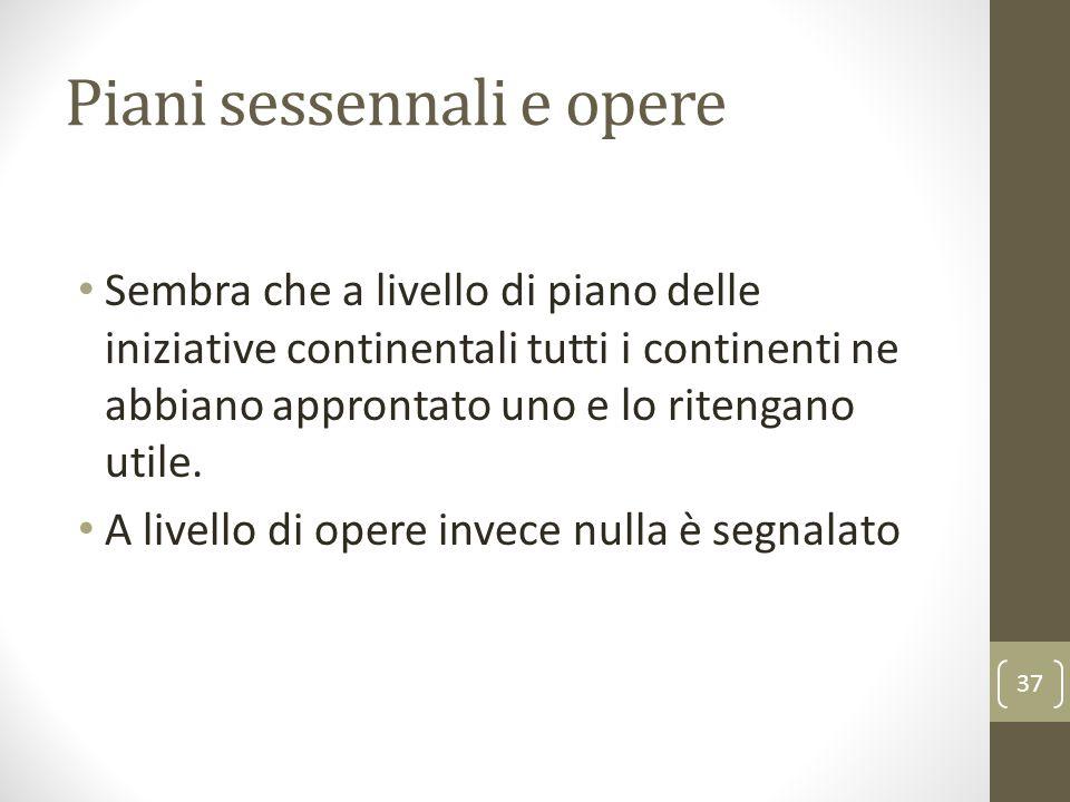 Piani sessennali e opere