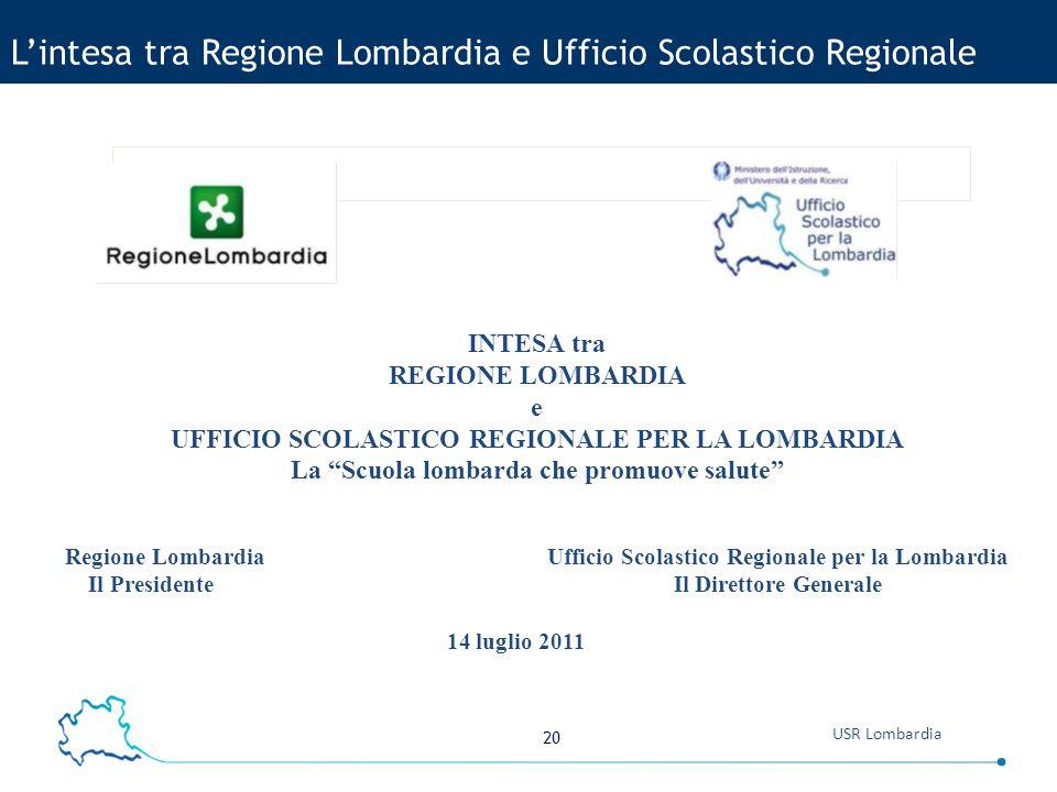 L'intesa tra Regione Lombardia e Ufficio Scolastico Regionale