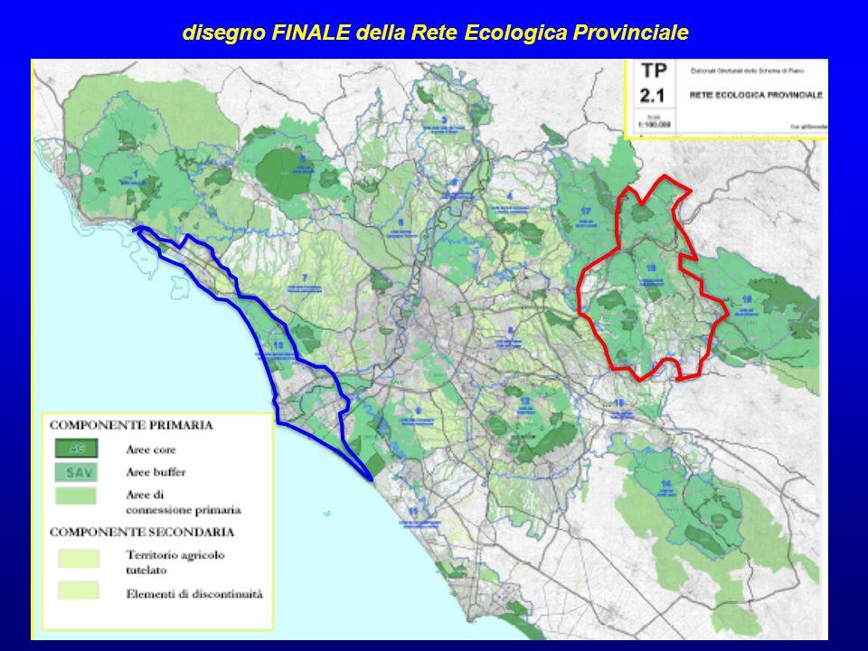 disegno FINALE della Rete Ecologica Provinciale