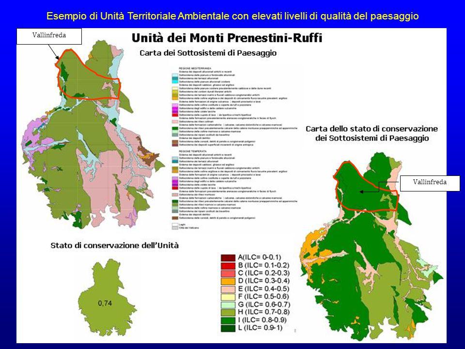 Esempio di Unità Territoriale Ambientale con elevati livelli di qualità del paesaggio