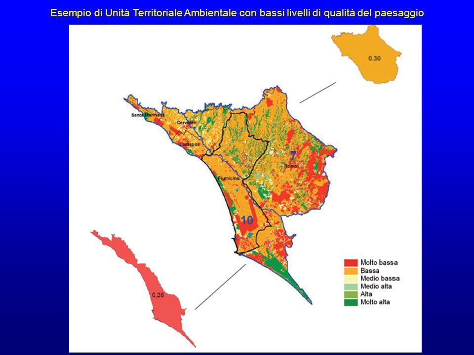 Esempio di Unità Territoriale Ambientale con bassi livelli di qualità del paesaggio