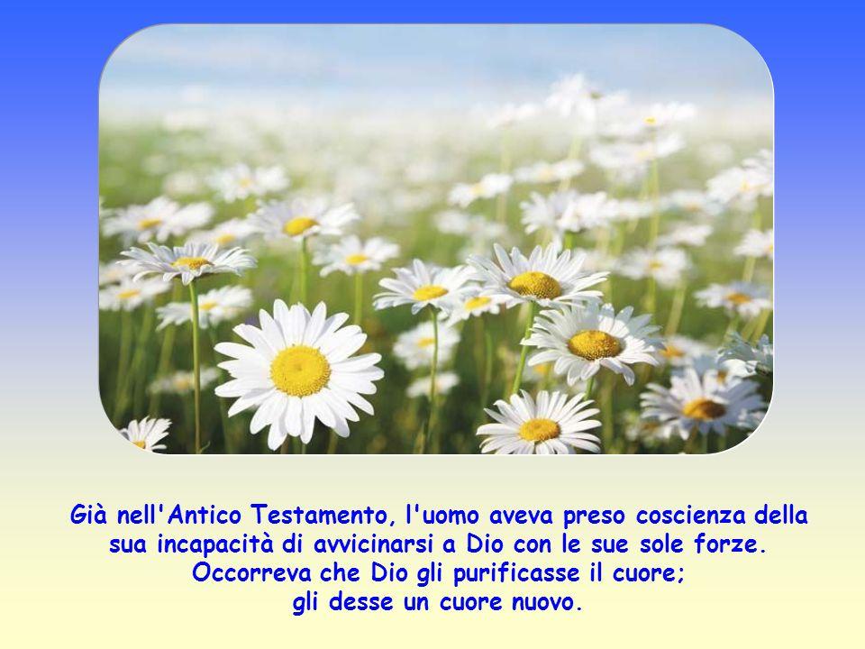 Già nell Antico Testamento, l uomo aveva preso coscienza della sua incapacità di avvicinarsi a Dio con le sue sole forze.