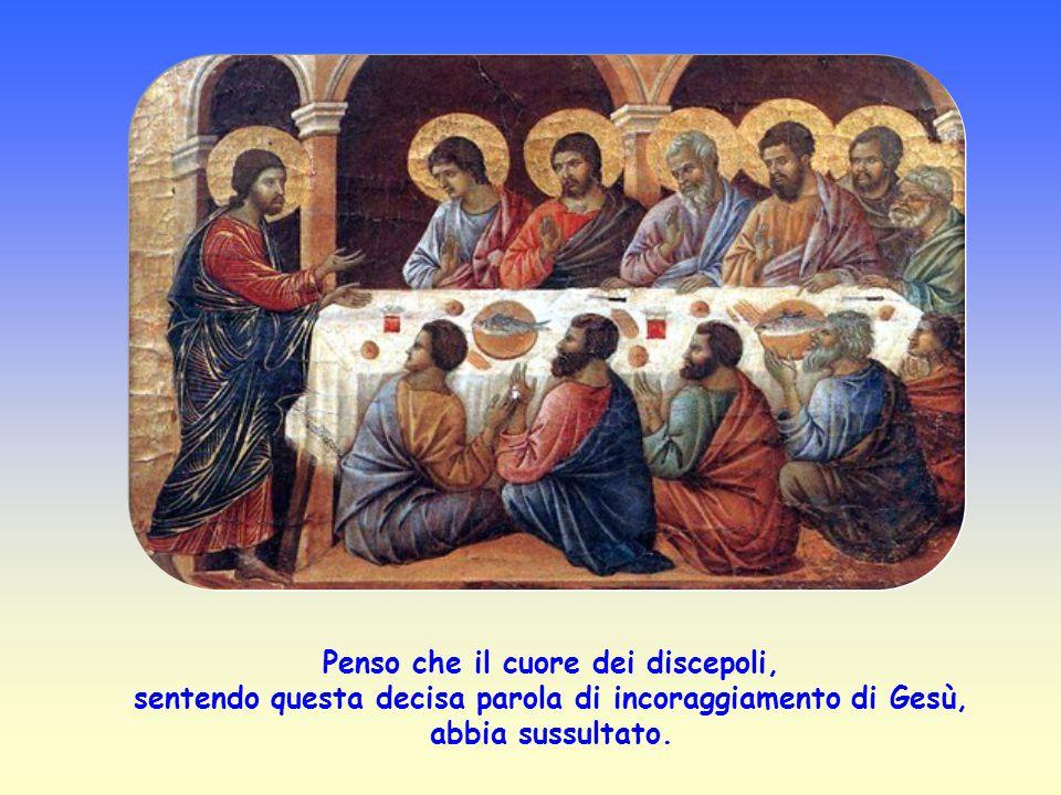 Penso che il cuore dei discepoli, sentendo questa decisa parola di incoraggiamento di Gesù, abbia sussultato.