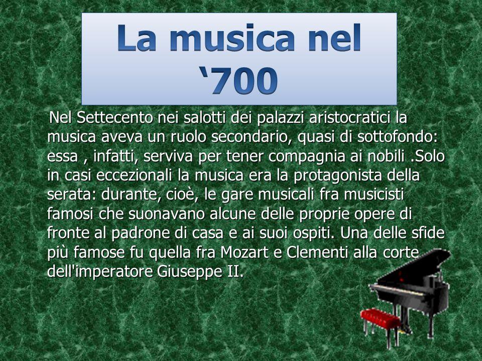 La musica nel '700