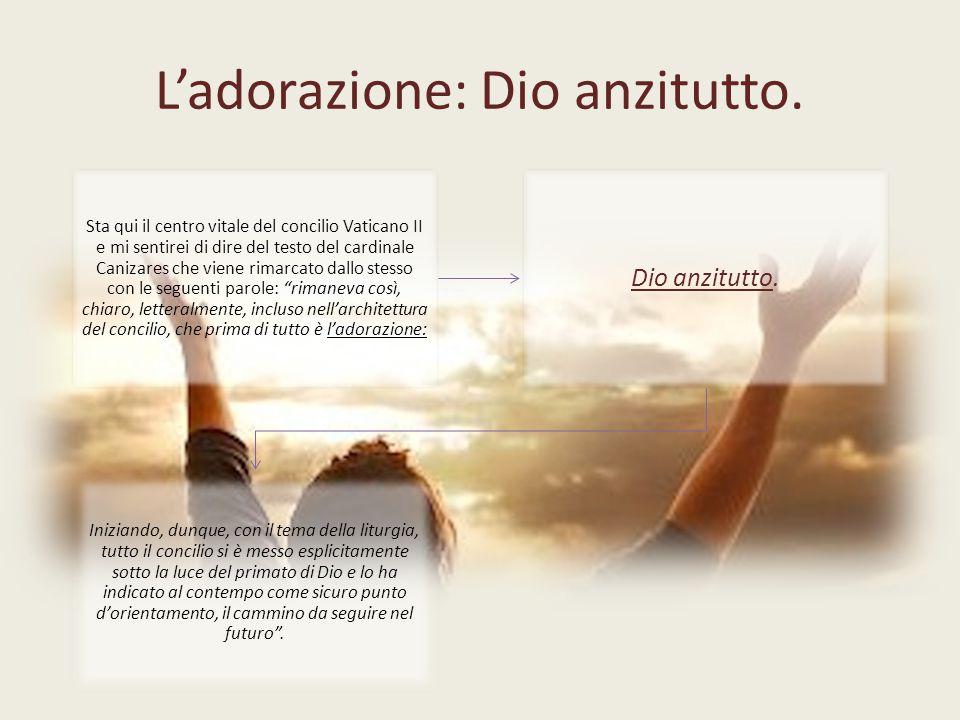 L'adorazione: Dio anzitutto.