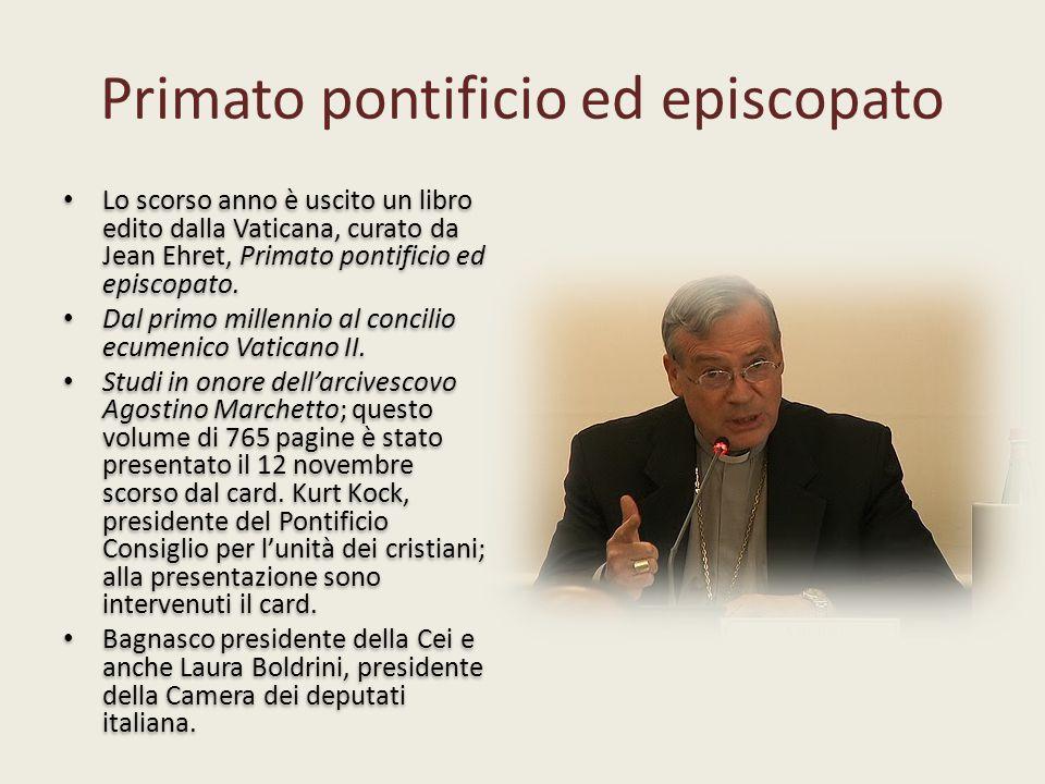 Primato pontificio ed episcopato