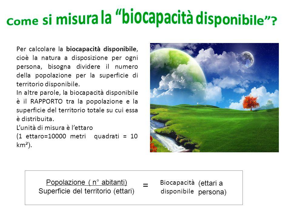 Come si misura la biocapacità disponibile