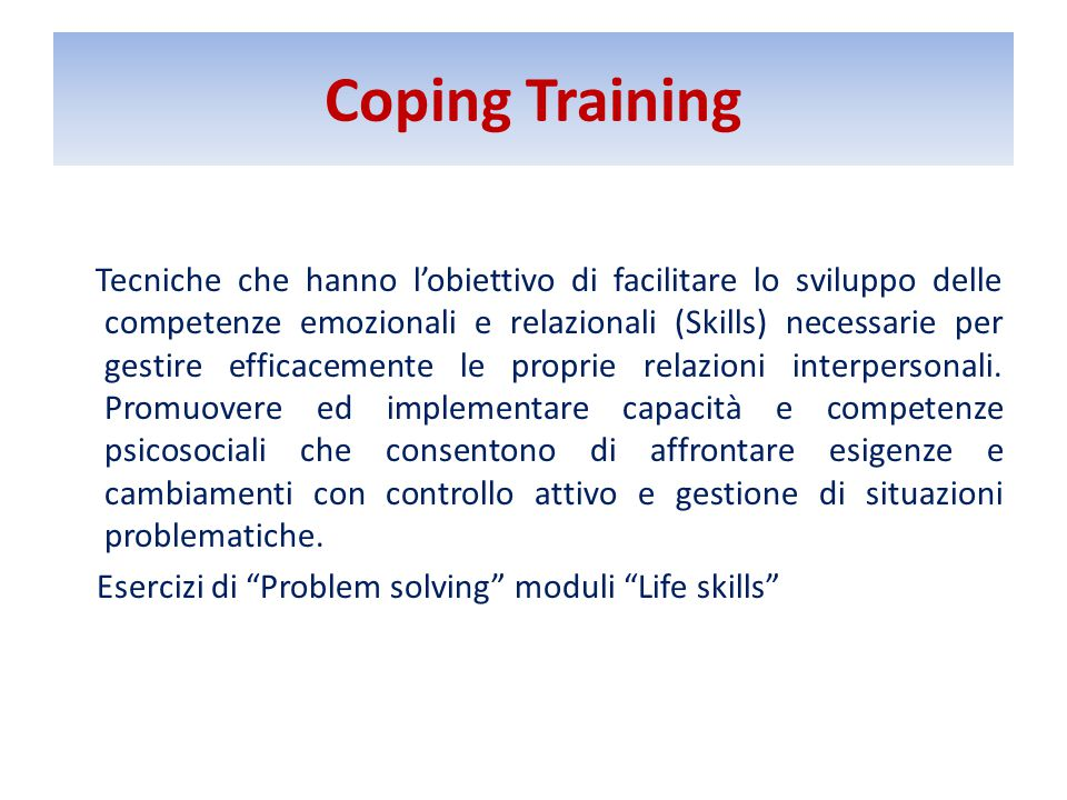 Coping Training