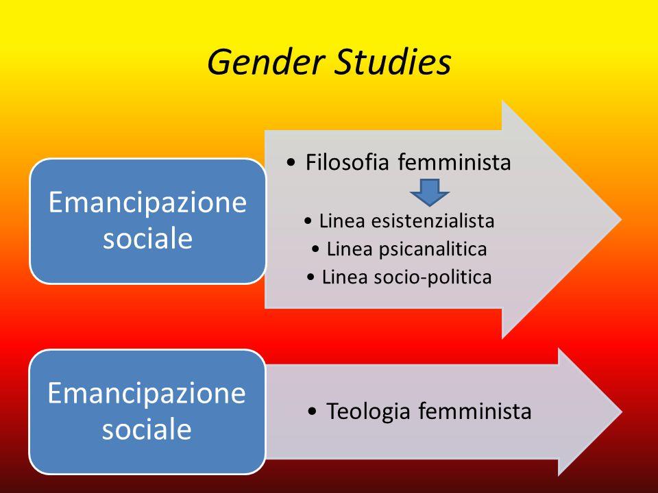 Gender Studies Emancipazione sociale Filosofia femminista