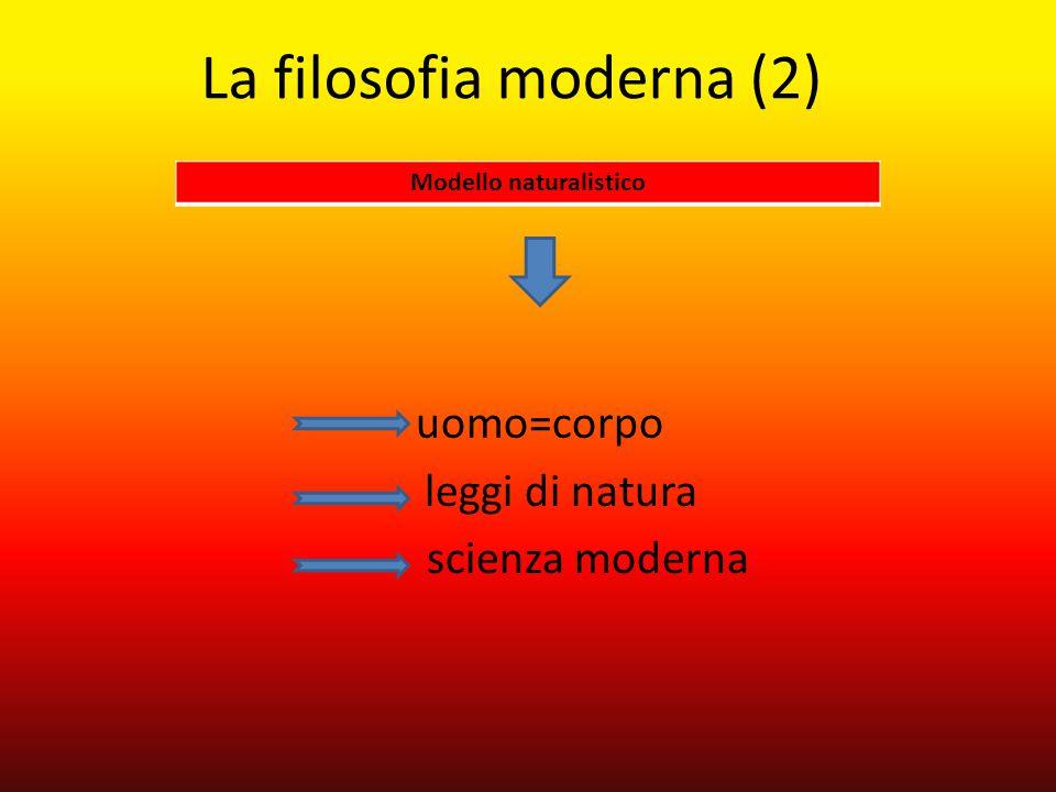 La filosofia moderna (2)