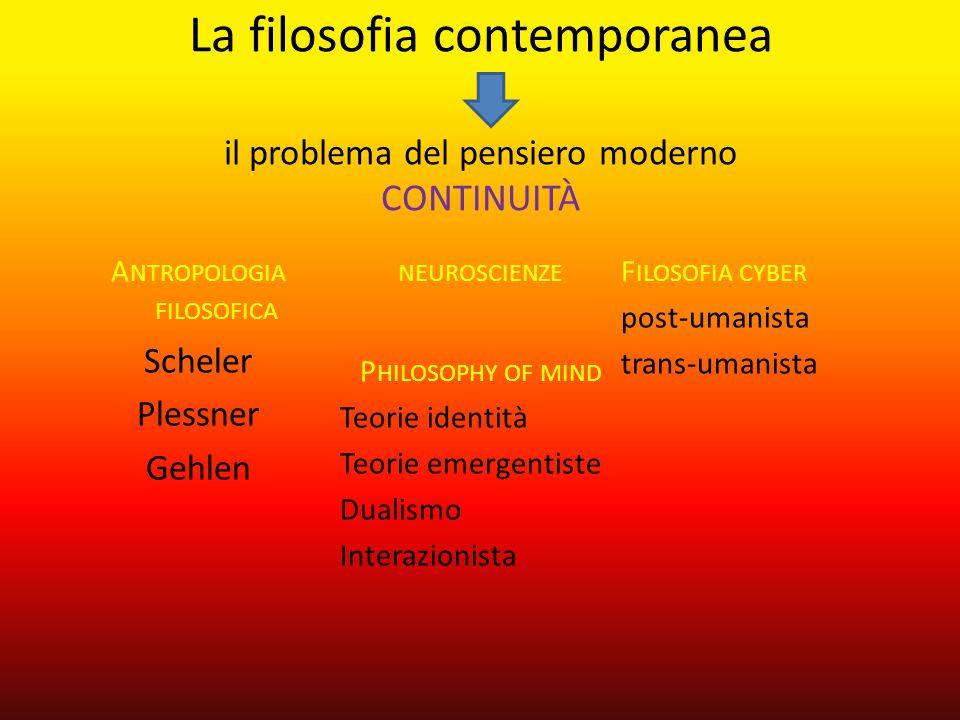 La filosofia contemporanea il problema del pensiero moderno CONTINUITÀ