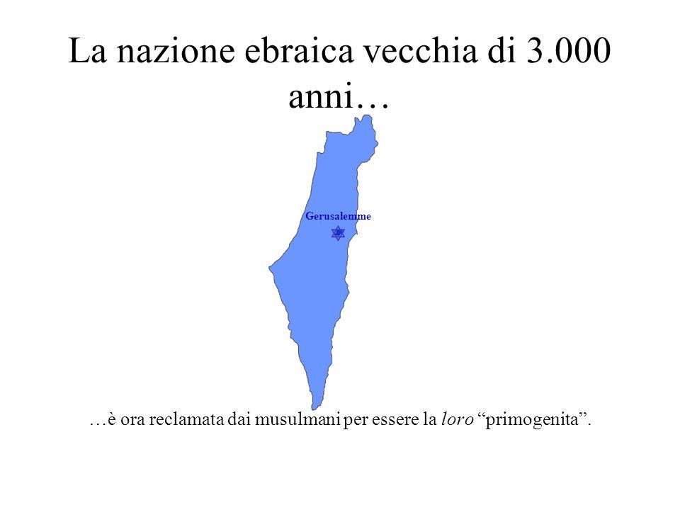 La nazione ebraica vecchia di 3.000 anni…
