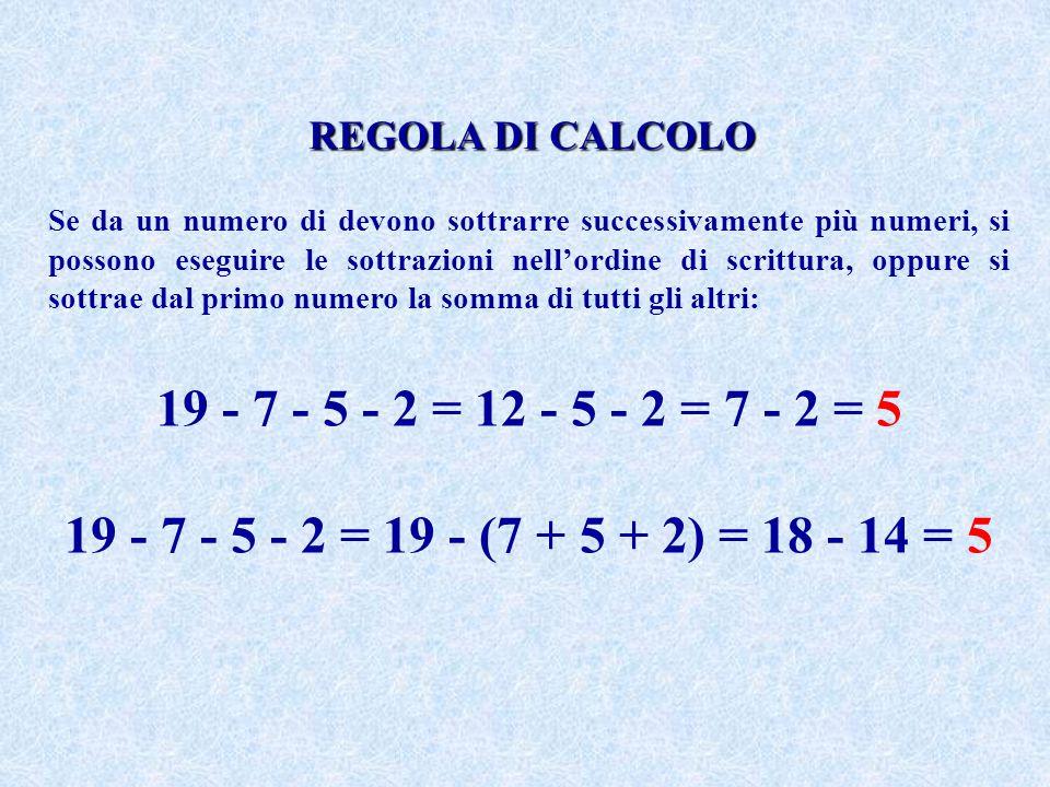 REGOLA DI CALCOLO