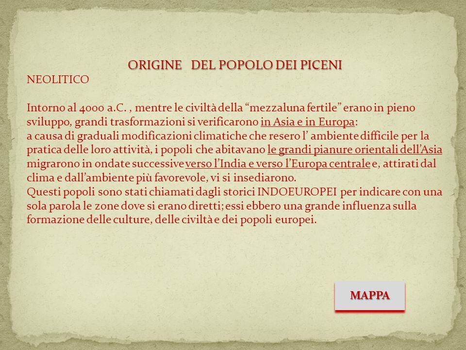 ORIGINE DEL POPOLO DEI PICENI