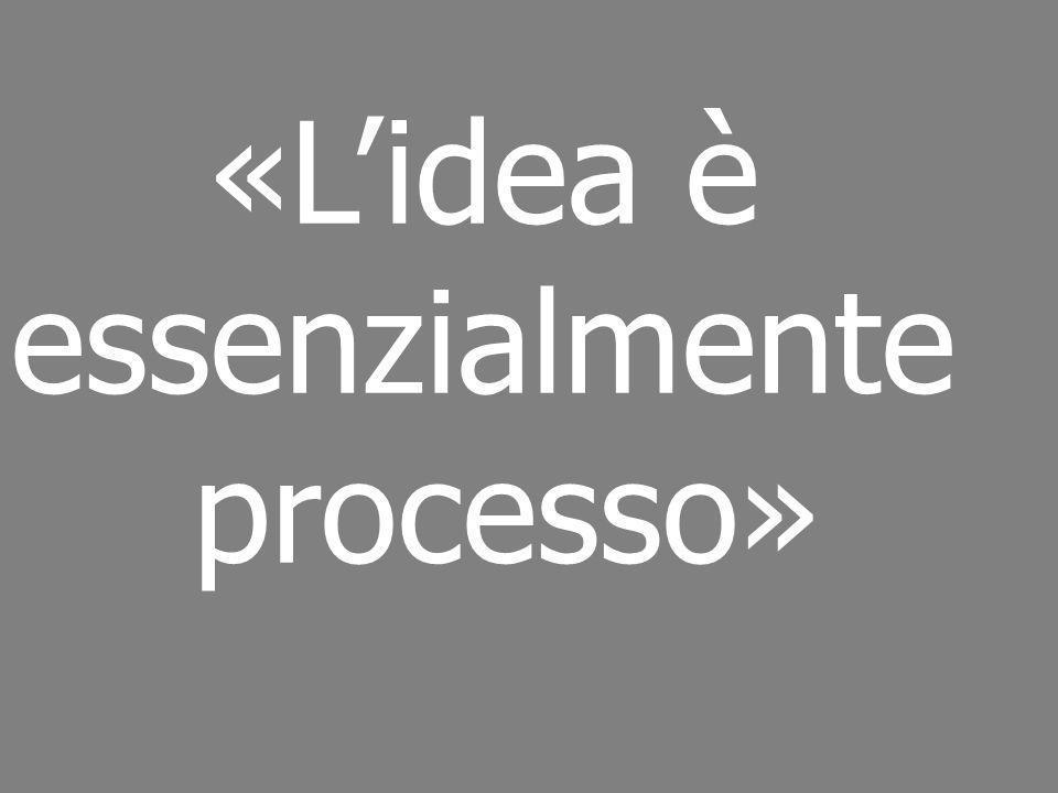 «L'idea è essenzialmente processo»