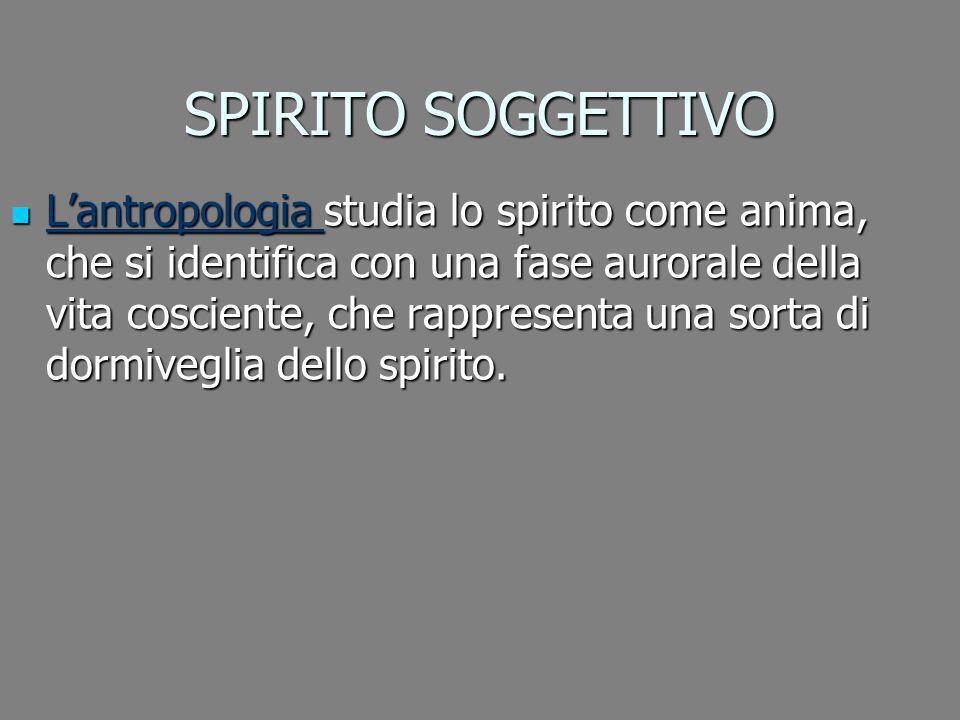SPIRITO SOGGETTIVO