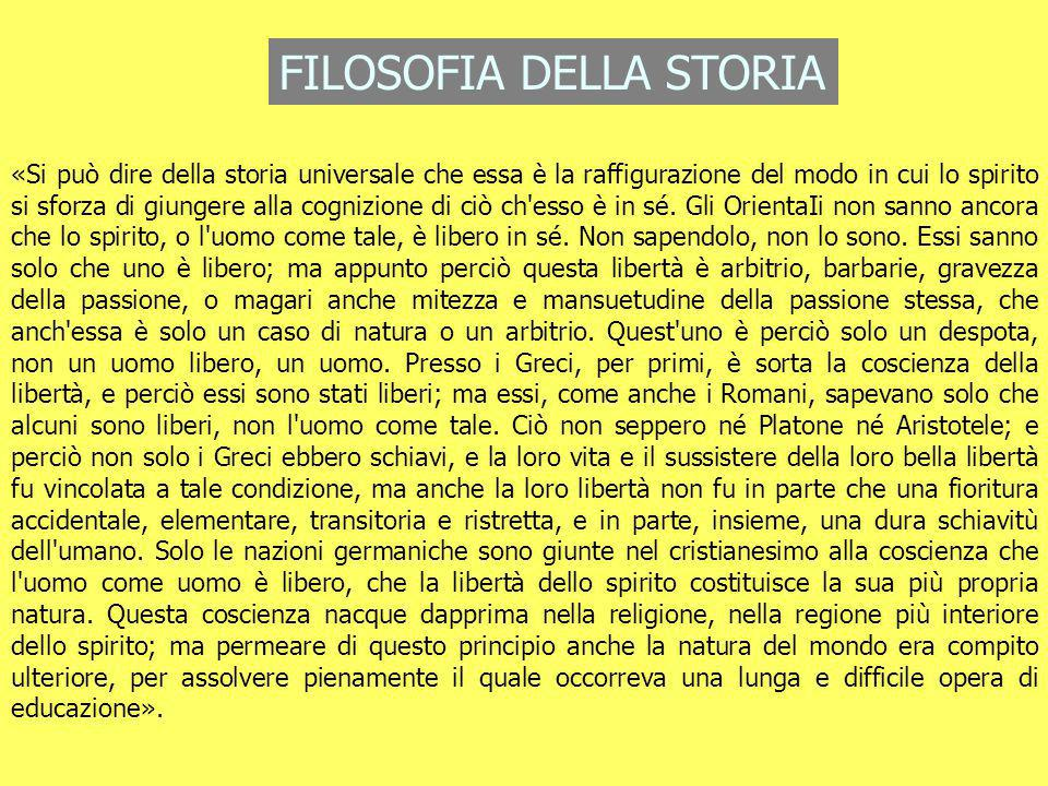 FILOSOFIA DELLA STORIA