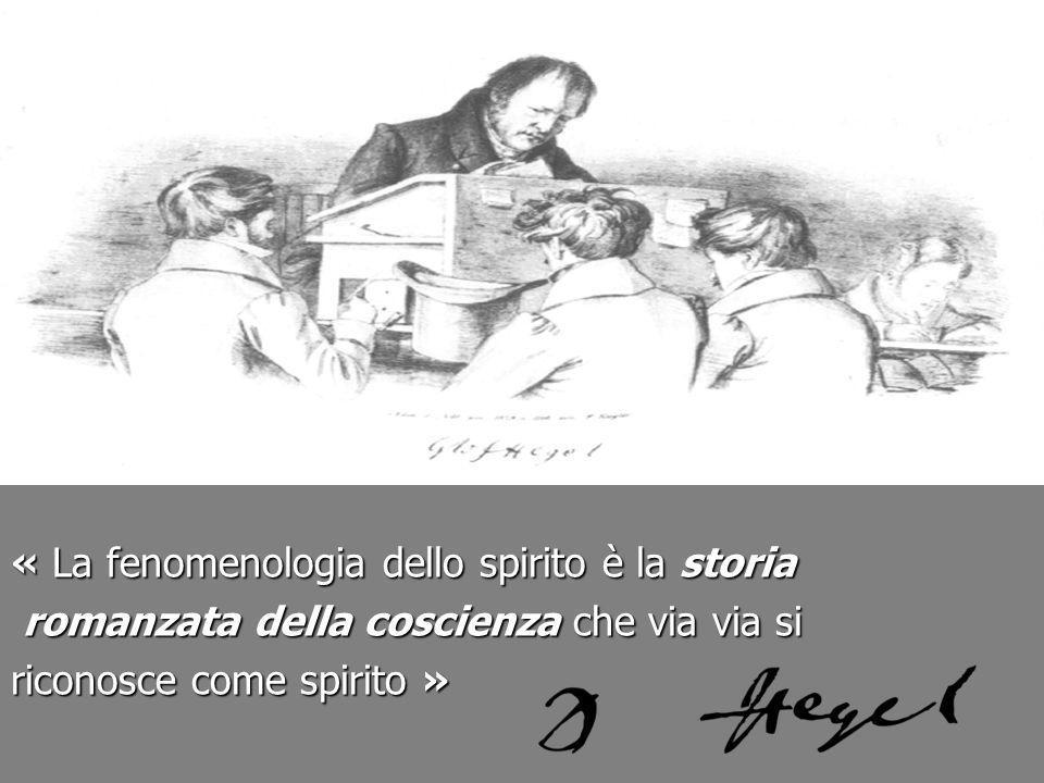 « La fenomenologia dello spirito è la storia