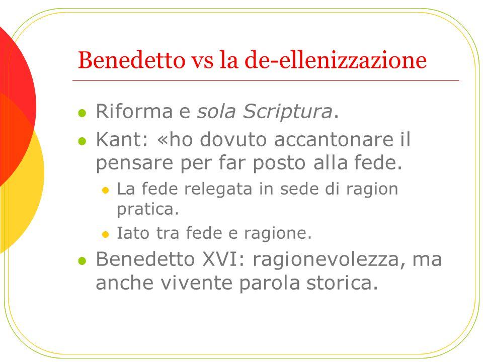 Benedetto vs la de-ellenizzazione