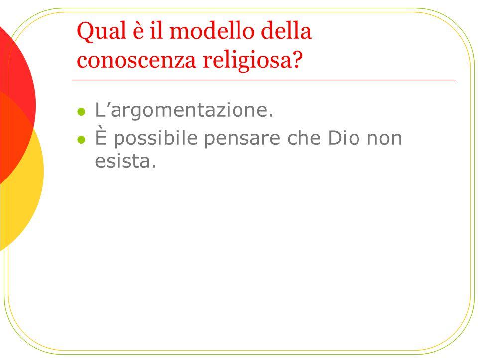 Qual è il modello della conoscenza religiosa