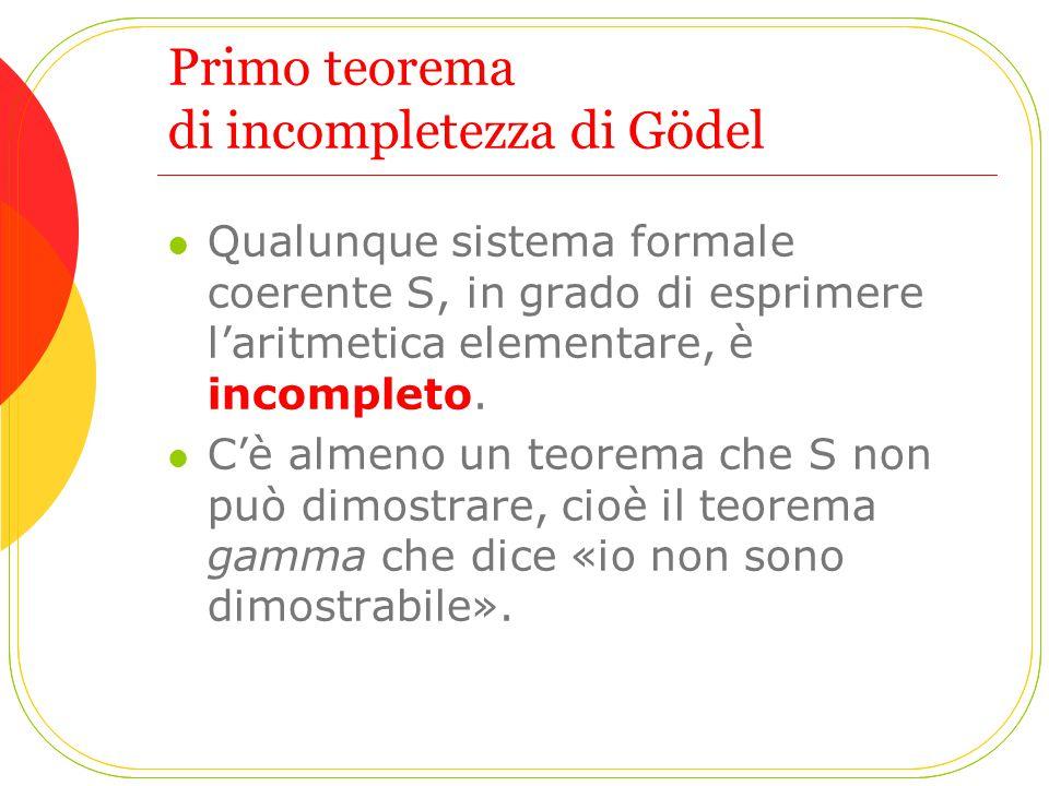 Primo teorema di incompletezza di Gödel